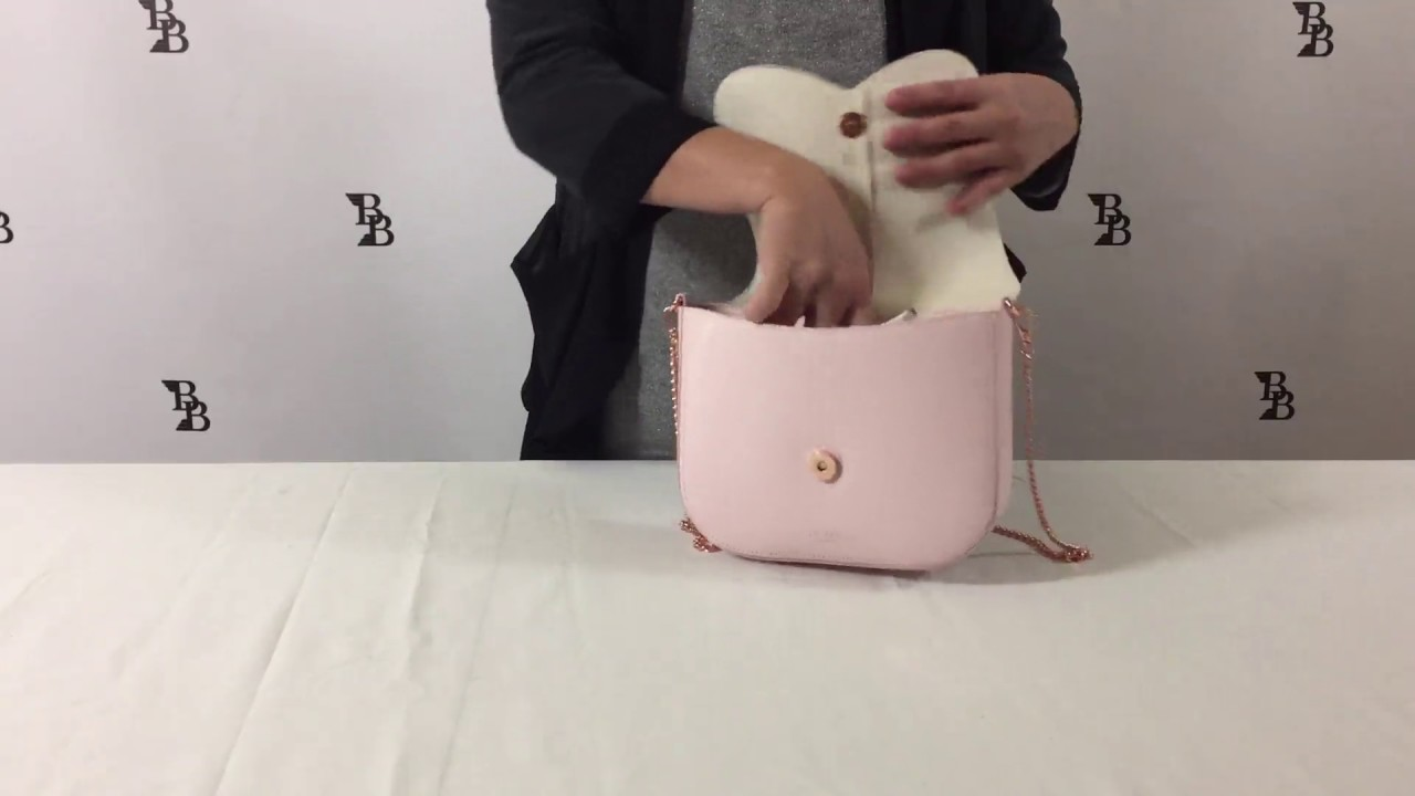 465ca7d1ece4 Ted Baker London Cat Leather Crossbody Bag Review - YouTube