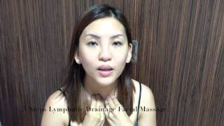 easy 5 steps lymphatic drainage facial massage for a slimmer glowing face