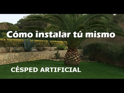 Como instalar cesped artificial en tu jardin youtube Instalar cesped artificial