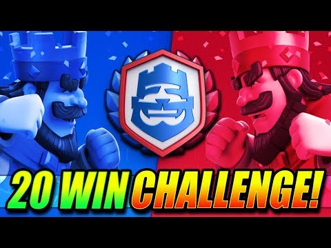 20 WIN CRL CHALLENGE!! - LIVE - Clash Royale