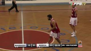 Basquetebol - Resumo: Maia Basket 60 - 66 SL BENFICA