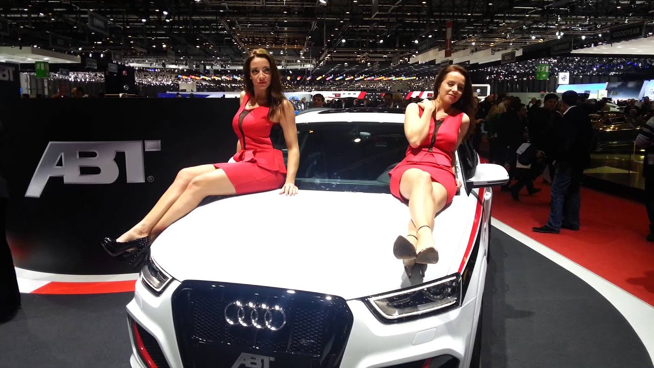 Les h tesses de abt font le show gen ve 2014 youtube for Salon de l auto hotesse