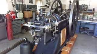 1884 10 HP Schleicher Slide Valve - Restoration Complete -  Test Run at 75 RPM