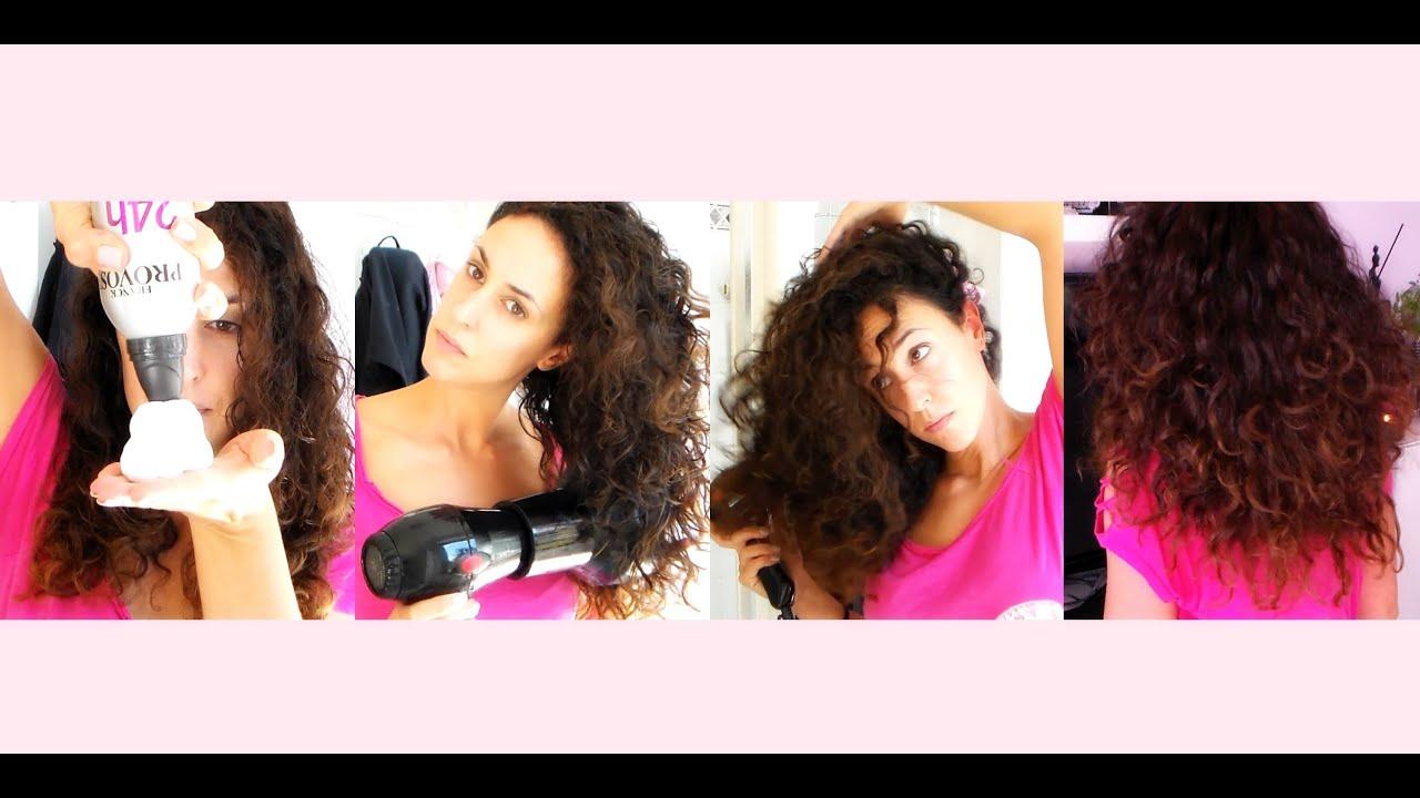Come fare i capelli lisci con la schiuma