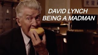 David Lynch being a madman for a relentless 8 minutes and 30 seconds