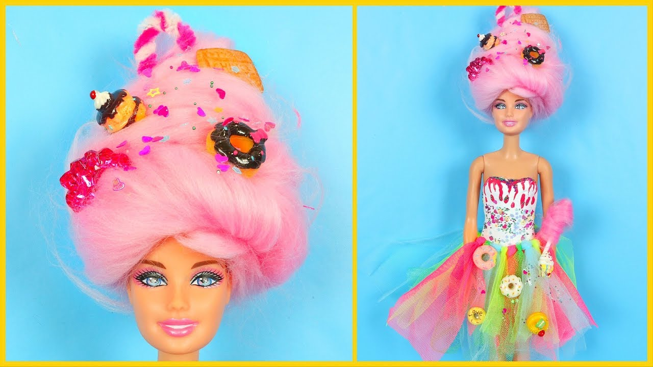 SWEET CANDY BARBIE GIRL STYLING TRANFORMATION ~ DIY Barbie ...