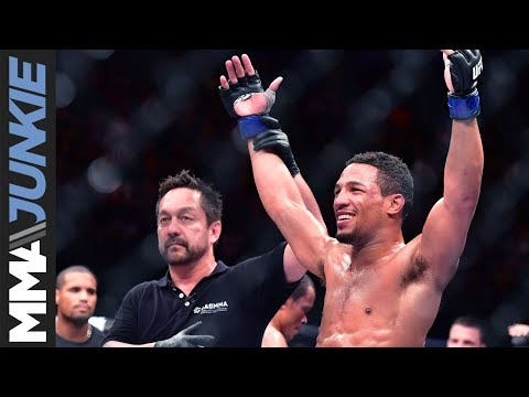 Kevin Lee full media scrum at UFC headquarters ahead of UFC Fight Night 112