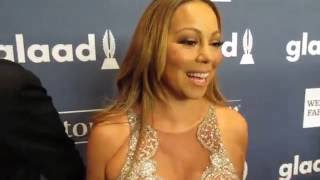 Mariah Carey, James Packer red carpet at The GLAAD Media Awards at the Waldorf Astoria Hotel NYC