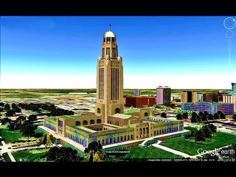 HISTORICAL PLACES OF NEBRASKA STATE,U S A  IN GOOGLE EARTH