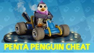 Crash Team Racing Nitro-Fueled - How to Unlock Penta Penguin (Secret Character Cheat)