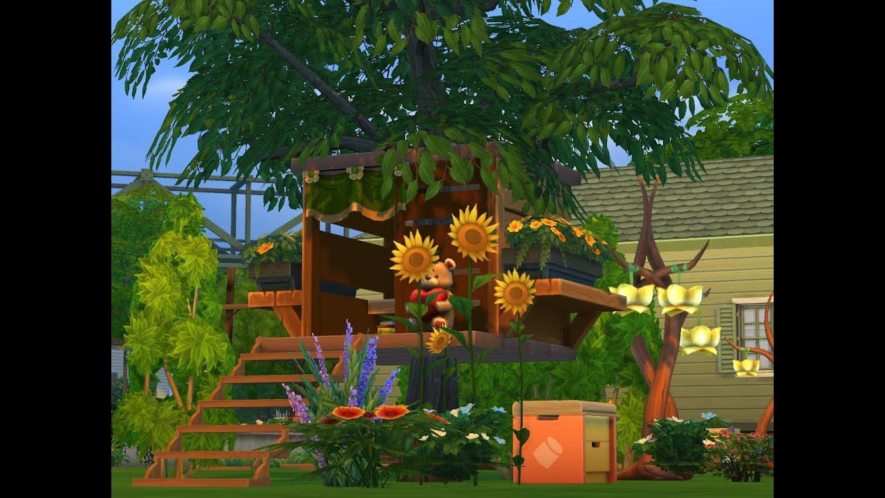 Los sims 4 miniconstrucciones casa del rbol treehouse for Casa del arbol cuenca