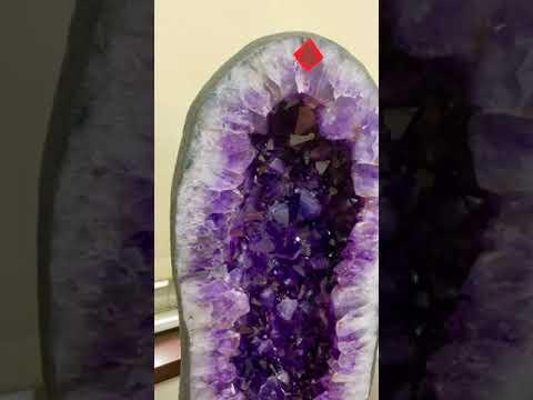 頂級ESP+稀有帝王紫巴西木型形超大角帶鈦晶紫水晶洞 54.5kg送精美雕花底座 HD影片