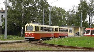 Трамвай. Санкт-Петербург. Музейный трамвайный поезд ЛМ/ЛП-49. 28.05.2016г.