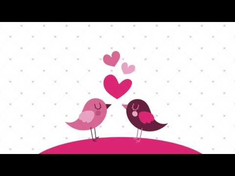 Love GIF like animation - Love birds / Spread the word