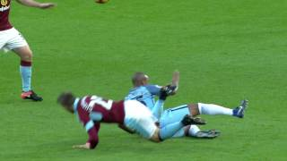 10-man Manchester City beat Burnley 2-1