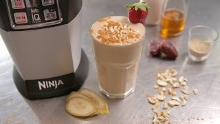 Nutri Ninja Recipe  - Old School Vanilla Smoothie With Maca, Banana And Almond Milk