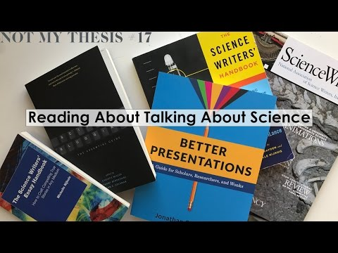 Reading about Talking about Science | NOT MY THESIS