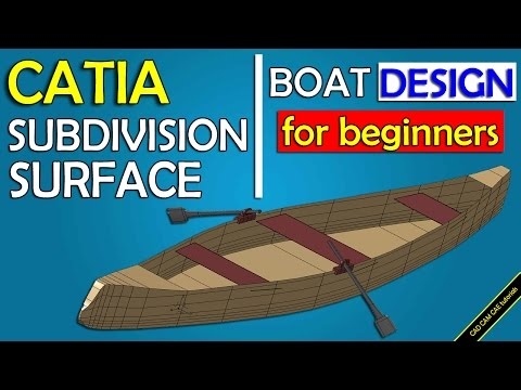 CATIA online training | boat design | imagine and shape ( subdivision surface)