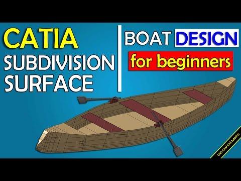 CATIA free basic online training  boat design  imagine and shape  subdivision surface
