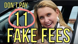 11 FAKE FEES: DO NOT PAY at Car Dealerships  by AUTO Expert: Kevin Hunter 2020