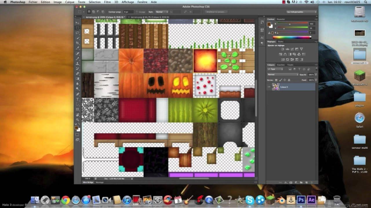 Comment créer son propre pack de texture minecraft sur mac - YouTube
