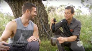 Bear Grylls interview on The Project (2013) - Air New Zealand