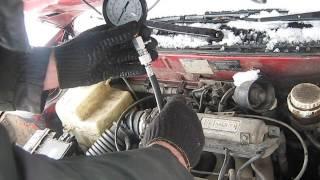 Замер компрессии Mitsubishi Lancer CB4A 4G92
