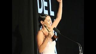 """Pampita le dedicó el premio a sus hijos y en especial a Blanca: """"A mi amor, que estás allá arriba"""""""