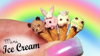 EASY; Miniature Animal Ice Cream Cones // Dolls/Dollhouse