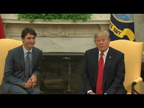 'Charm offensive': Trump & Trudeau discuss NAFTA, tariffs
