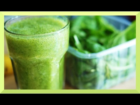 Grüner Smoothie Rezept mit Spinat Apfel Banane