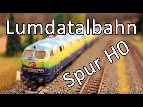Modelleisenbahn der Lumdatalbahn in Spur H0