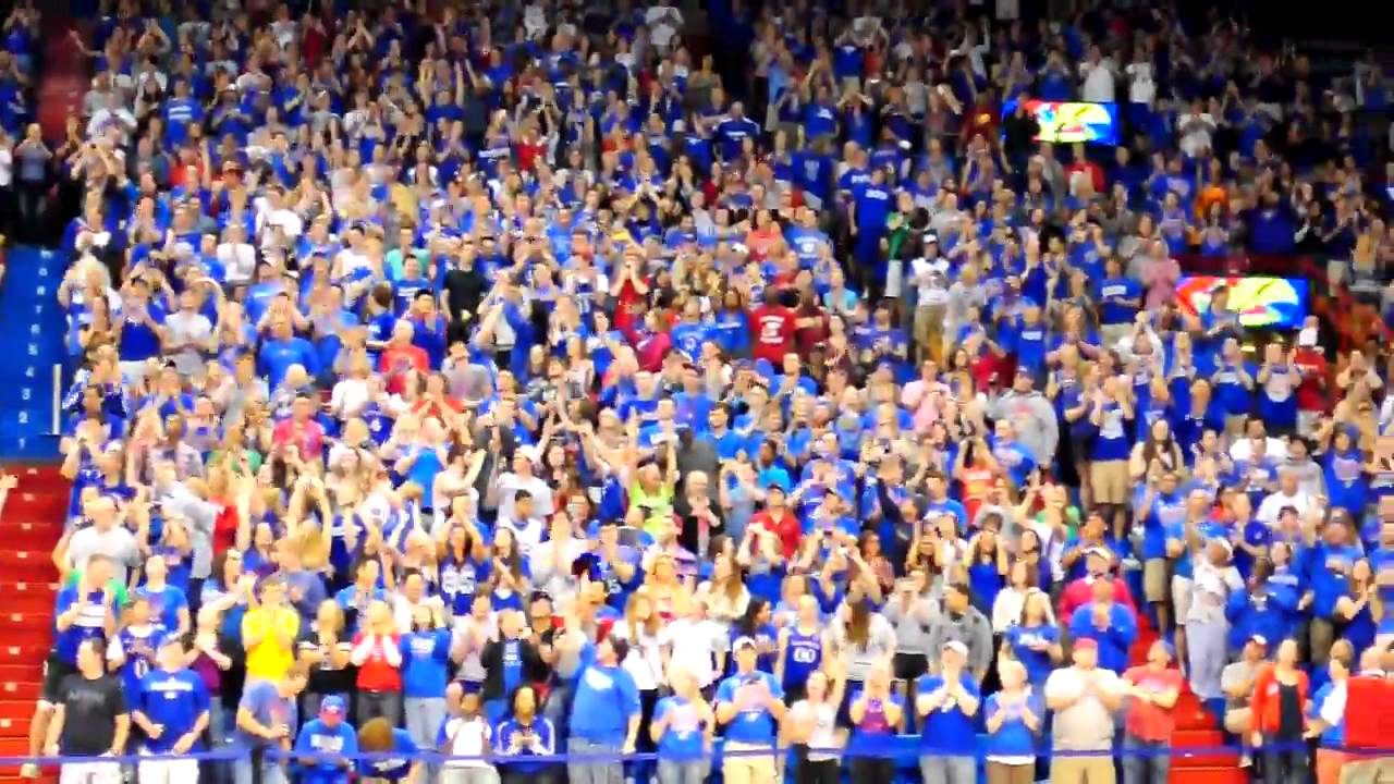 KU Fans In Allen Fieldhouse To Welcome Home Final 4 Bound