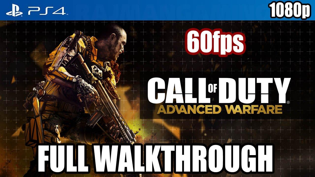 Call of Duty Advanced Warfare (PS4) FULL WALKTHROUGH @ 60fps [1080p] TRUE-HD QUALITY