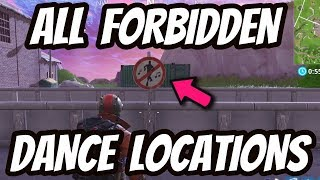 "FORTNITE ""Dance in diffrent forbidden locations"" Battle Pass Challenge Week 2 Fortnite Battle Royale"