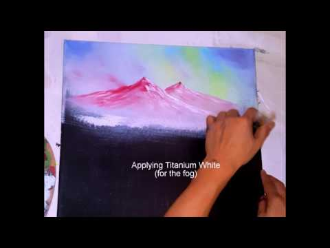 The Waterfall – Part 2 – The Mountains! Acrylic Painting Tutorial Step by Step
