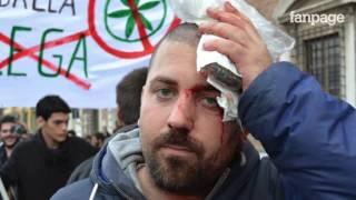 Pisa, scontri tra polizia e manifestanti anti-Lega: diversi ragazzi feriti