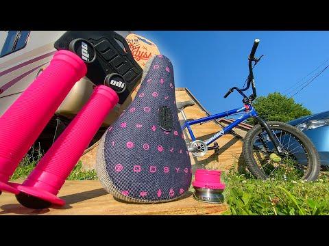 NEW BMX PARTS INSTALL! - Cotton Candy Bike?