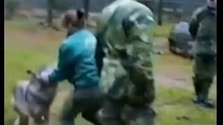 борьба женщины с волком