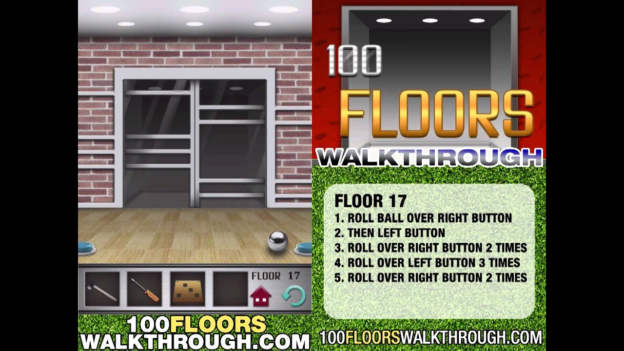 floor 17 walkthrough 100 floors walkthrough floor 17 For100 Floor Level 17 Answers