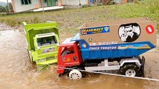 Canter And Dump Truk Sruduk Lumpur Man