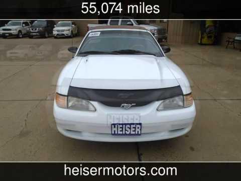 1996 ford mustang gt used cars dickinson north dakota for Heiser motors dickinson nd