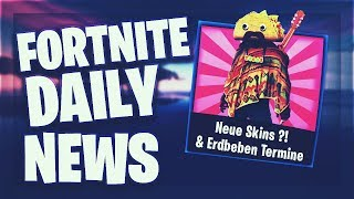 Fortnite Daily News *NEW* SKINS?!, STUFE 4 PRISONER & ERDBEBEN TERMINE (17 February 2019)