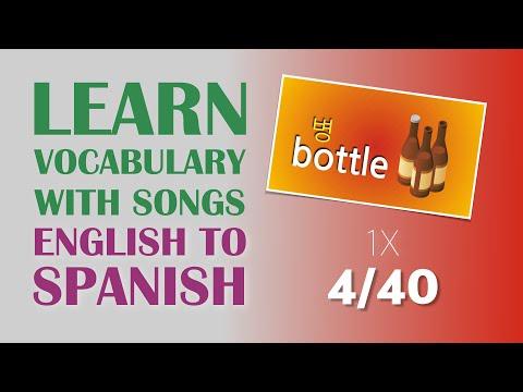 Learn Spanish vocabulary with songs (4/40), ¡Aprenda palabras en Ingles a través de canciones 4