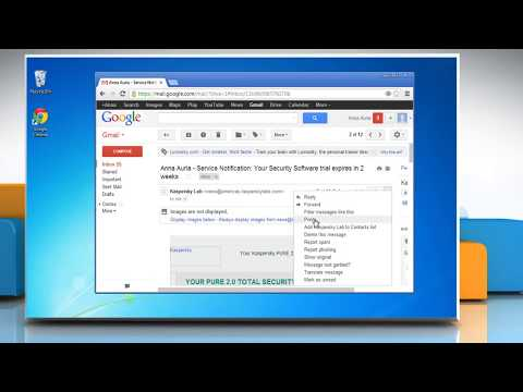How to print email messages in Gmail®