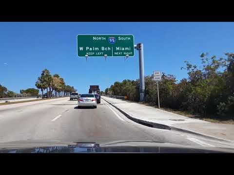Miami, FL. Driving from Plantation to Dania Beach.