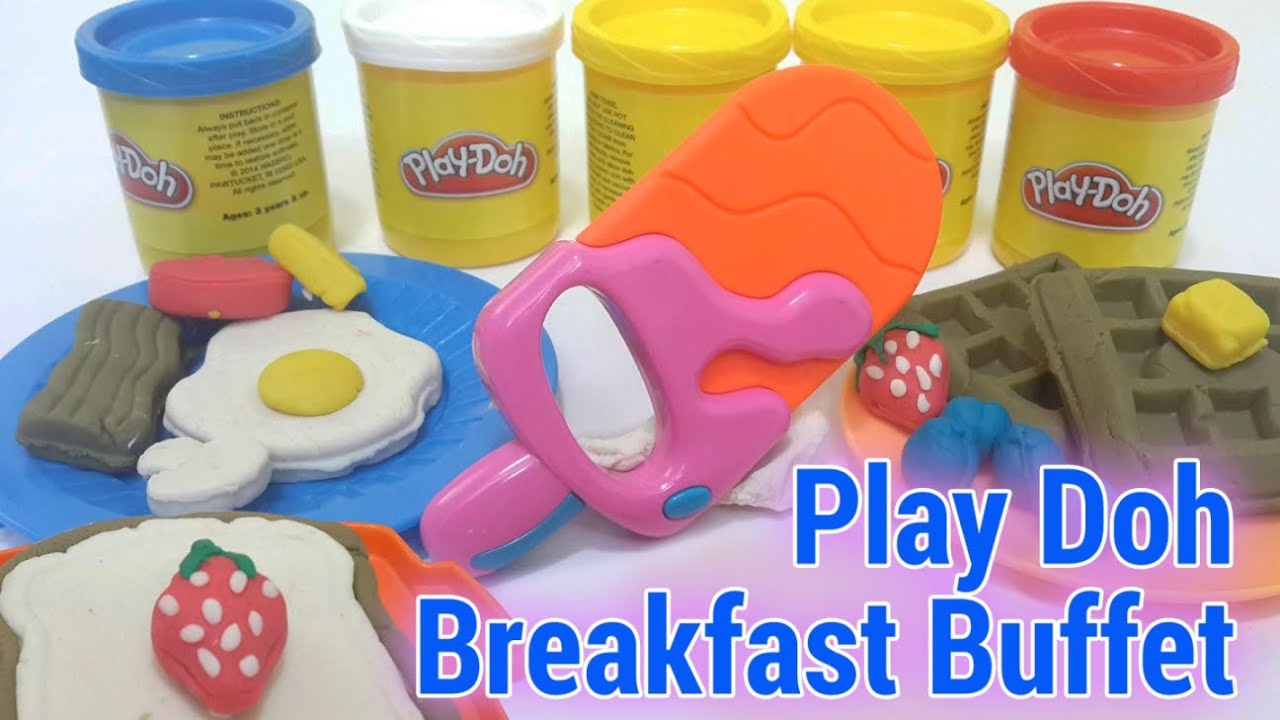 play doh breakfast buffet clay modeling playdoh food youtube. Black Bedroom Furniture Sets. Home Design Ideas