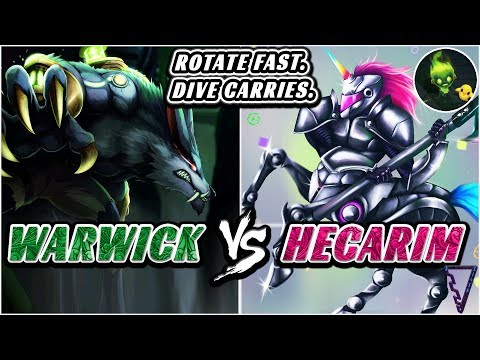 Win More By Rotating Fast & Diving Priority Targets (Hecarim vs Warwick)