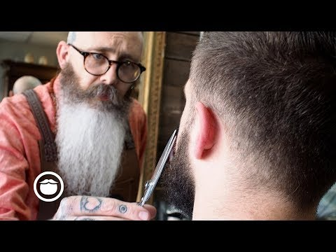 Master Barber Gives New Beard First Trim