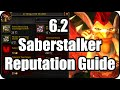 WoW Saberstalker Reputation Blackfang Claws Farming Grinding Guide Tanaan Jungle Patch 6.2